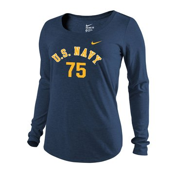 Nike Women's U.S. Navy Tri-Blend Long Sleeve Scoop Tee