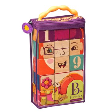 B. Puzzled Wooden 15pc Block Set