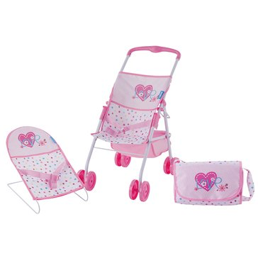Love Heart Doll Travel & Care Set