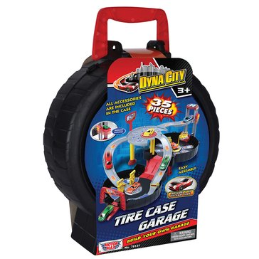 Dyna-City Tire Case Garage With Cars