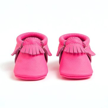 Freshly Picked Moccs, Neon Pink, Size 3