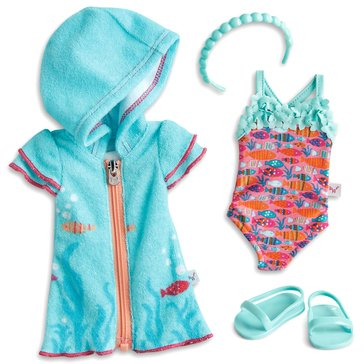 WellieWishers Fun Fish Swimsuit and Cover Up