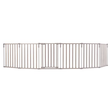 North States Superyard 3-In-1 Extra Wide Wood Gate, Grey