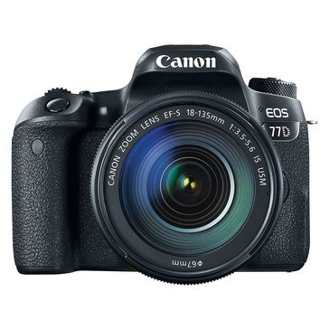 Canon EOS 77D W/EF-S 18-135mm IS USM KIT - (1892C002)