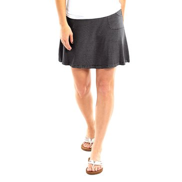 Fresh Produce Pinstripe City Skirt in Black/White