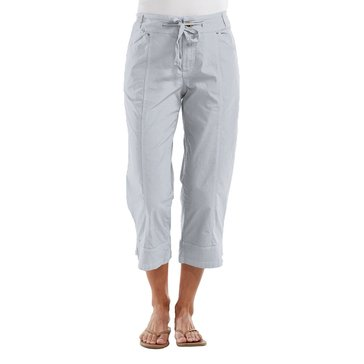 Fresh Produce Solid Safari Capri in Silver Grey Vapor