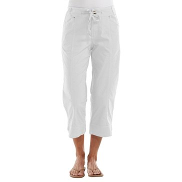 Fresh Produce Solid Safari Capri in White