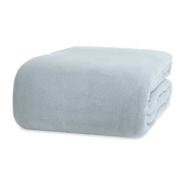 Berkshire Fleece Blanket, Pebble Grey - King