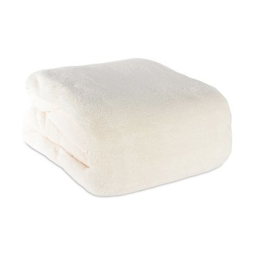 Berkshire Plush Blanket, Cream - Twin