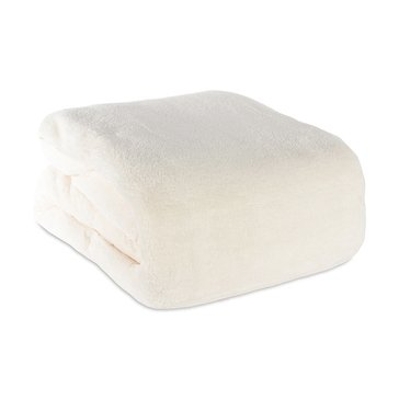 Berkshire Plush Blanket, Cream - Full/Queen