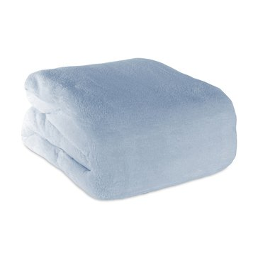 Berkshire Plush Blanket, Silver Blue - Twin
