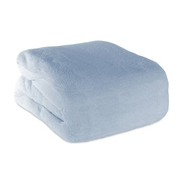 Berkshire Plush Blanket, Silver Blue - Full/Queen