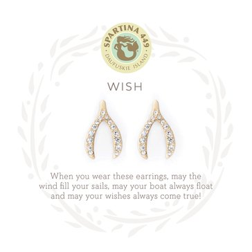 Spartina 449 Sea La Vie Stud Earrings Wishbone