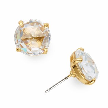 Kate Spade Gold Tone 'Bright Ideas' Clear Stud Earrings