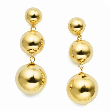 Kate Spade Gold Tone 'Golden Girl' Bauble Drop Earrings
