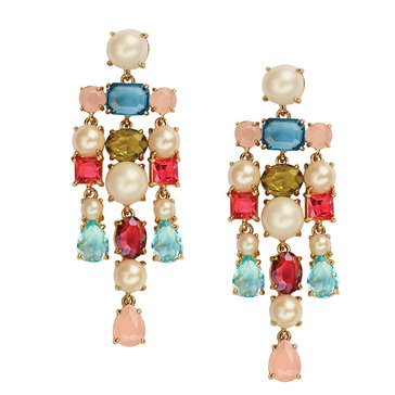 Kate Spade Gold Tone 'A New Hue' Multi Statement Earrings