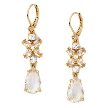 Kate Spade Gold Tone 'Take A Shine' Clear Drop Earrings