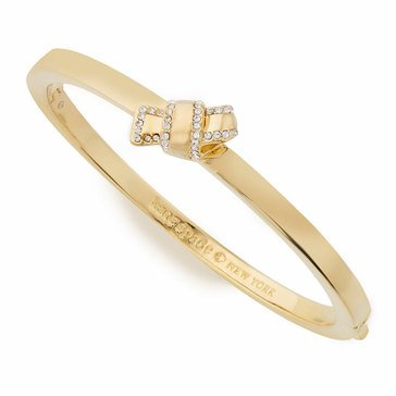 Kate Spade Gold Tone 'All Tied Up' Pave Knot Bangle