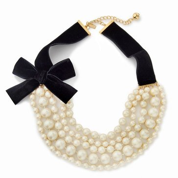 Kate Spade Gold Tone 'Girls In Pearls' Cream Multi Necklace