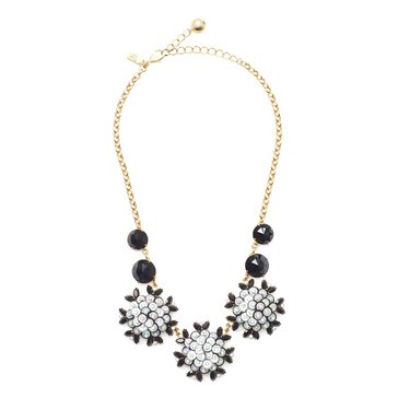 Kate Spade Gold Tone 'Be Bold' Black Multi Statement Necklace