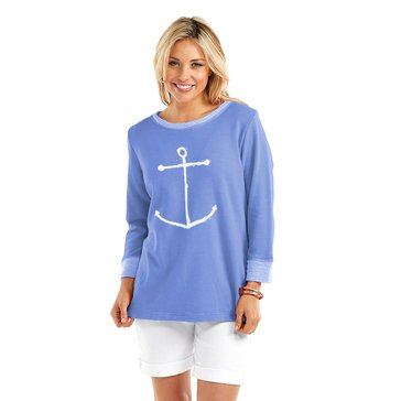 Fresh Produce Sweatshirt Sketchy Anchor Periwinkle