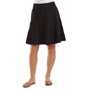 Fresh Produce Short Tiered Skirt Cotton Jersey Black