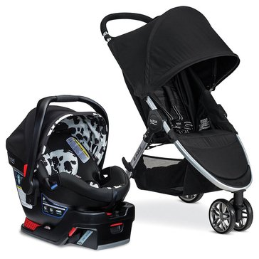 Britax B-Agile 3 Travel System With B-Safe 35 Elite, Cowmooflage