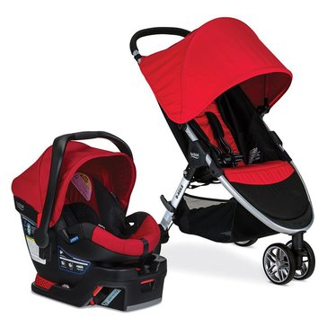 Britax B-Agile 3 Travel System With B-Safe 35- Red