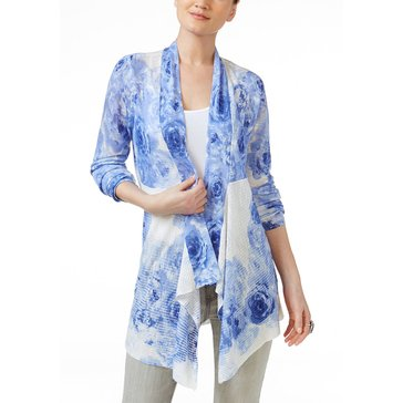 INC International Concepts Floral Printed Cozy in Sail Blue