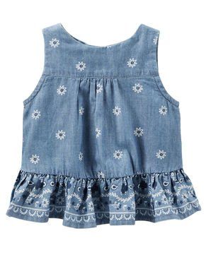 OshKosh B'gosh Baby Girls' Open Back Tank