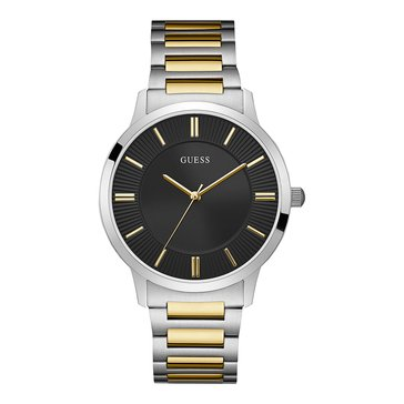 Guess Men's Escrow Polished Steel Case with Two-Tone Bracelet Watch, 43mm