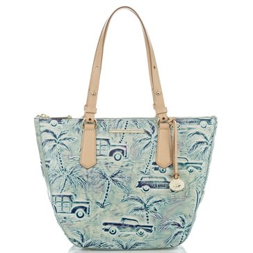 Brahmin Small Willa Zip Top Tote Sky Copa Cabana
