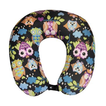Lily Bloom What-A-Hoot Memory Foam Neck Pillow - Black