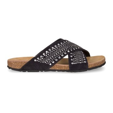 Wanted Purdy Women's Criss-Cross Studded Sandal Black