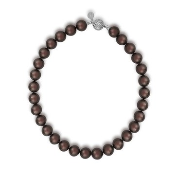 Majorica 14mm Tahitian Round Simulated Pearl Strand With Cubic Zirconia Clasp