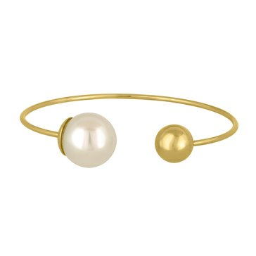 Majorica 14mm White Round Simulated Pearl Bangle