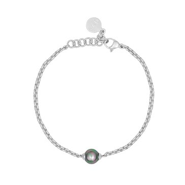 Majorica 8mm Grey Simulated Pearl Bracelet