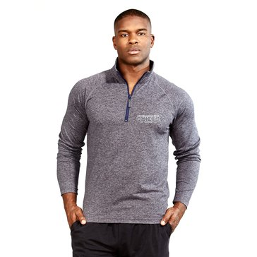 Soffe Men's Navy Melange Quarter Zip
