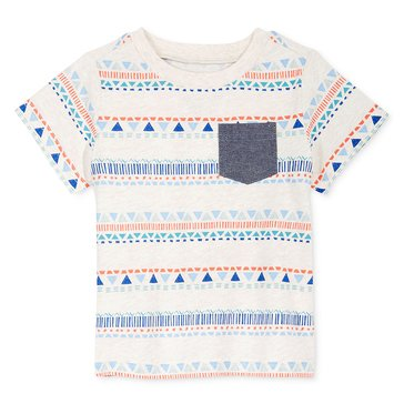 First Impressions Baby Girls' Tribal Pkt Tee