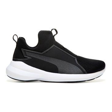 Puma Rebel Mid Women's Court Shoe - Puma Black / Puma Black / Puma White