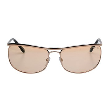 Tom Ford Men's Ryder FT0418 Sunglasses, Rose Gold/Green 68mm
