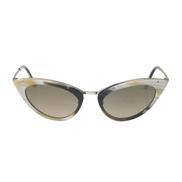 Tom Ford Women's Grace FT349 Sunglasses, Black & Horn 52mm