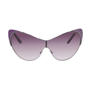 Tom Ford Women's Vanda Shield FT364 Sunglasses, Silver/Violet