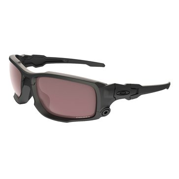 Oakley Standard Issue Men's Ballistic Shocktube Sunglasses, Matte Black/Prizm TR22