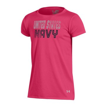 Under Armour U.S. Navy Gradient Girls Short Sleeve Tech Tee