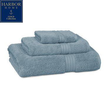 Harbor Home Gold Collection Bath Sheet, Topaz Blue