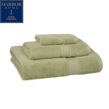 Harbor Home Gold Collection Bath Towel, Celery Green