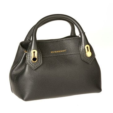 Burberry Baby Milton Bag In Black Grainy Leather