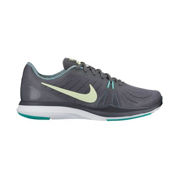 Nike In-Season TR 7 Women's Training Shoe - Dark Grey / Barley Volt / Aurora Green