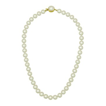 Majorica 10mm Simulated Round Pearl Strand Necklace